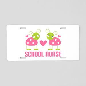 School Nurse Ladybug Aluminum License Plate