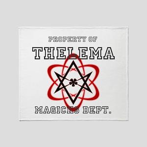 Property of THELEMA Magicks Dept. Throw Blanket
