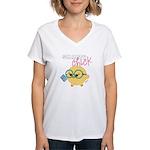 smartychickw Women's V-Neck T-Shirt