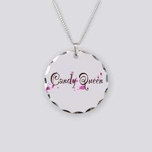 Candy Queen Necklace Circle Charm