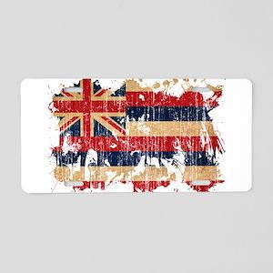 Hawaii Flag Aluminum License Plate