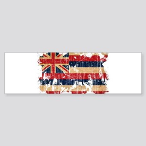 Hawaii Flag Sticker (Bumper)