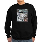 Sheep Plumber butt crack Sweatshirt (dark)