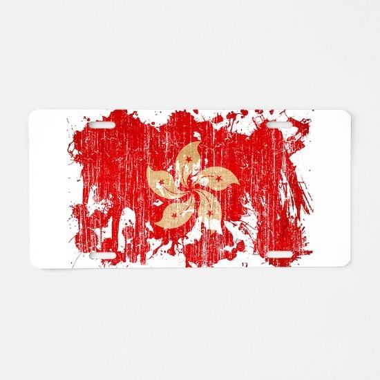 Hong Kong Flag Aluminum License Plate