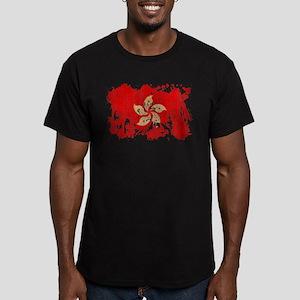 Hong Kong Flag Men's Fitted T-Shirt (dark)