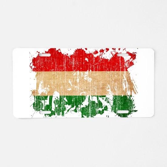 Hungary Flag Aluminum License Plate