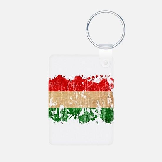 Hungary Flag Aluminum Photo Keychain