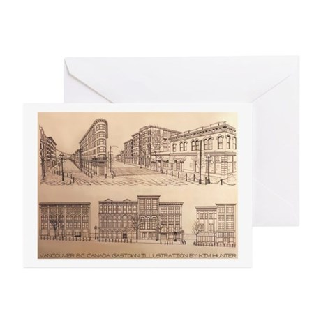 Vancouver Gastown Souven Greeting Cards (Pk of 10)