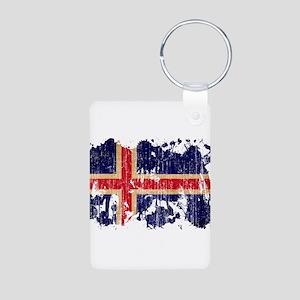 Iceland Flag Aluminum Photo Keychain