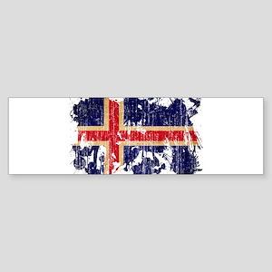 Iceland Flag Sticker (Bumper)