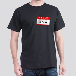 Sean, Name Tag Sticker Dark T-Shirt