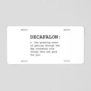 Decafalon Definition Black Aluminum License Pl