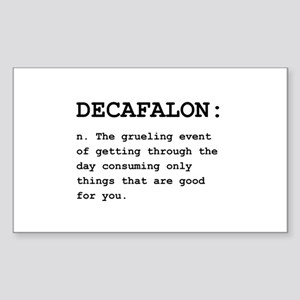 Decafalon Definition Black Sticker (Rectangle