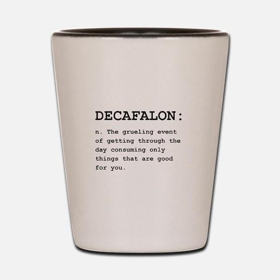 Decafalon Definition Black.png Shot Glass