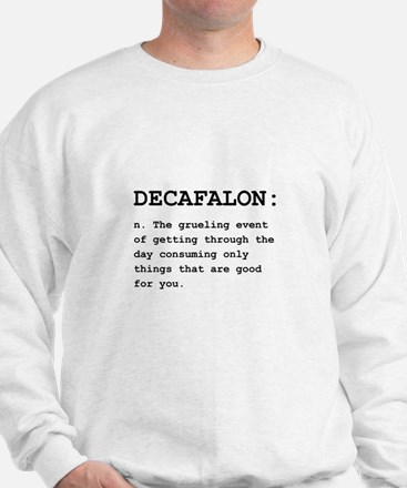 Decafalon Definition Black.png Sweatshirt