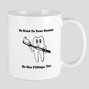 Dentist Filling Black Mug