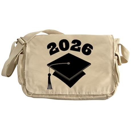Class of 2026 Grad Hat Messenger Bag