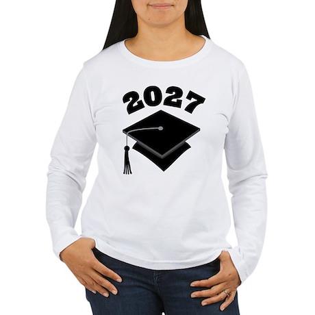 Class of 2027 Grad Hat Women's Long Sleeve T-Shirt