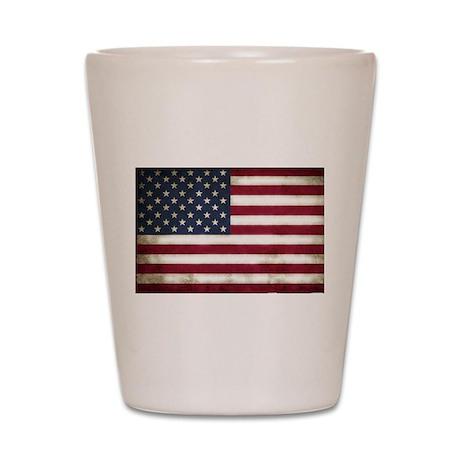Vintage, American Flag Shot Glass