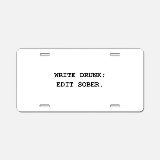 Edit Sober Black.png Aluminum License Plate