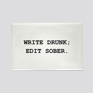 Edit Sober Black Rectangle Magnet (10 pack)