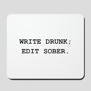 Edit Sober Black Mousepad