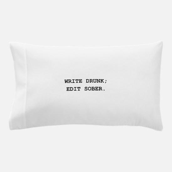 Edit Sober Black.png Pillow Case