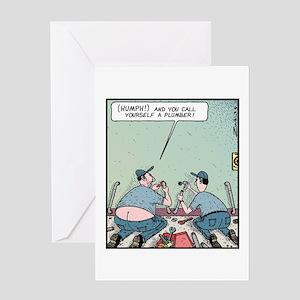 Plumbers butt crack Greeting Card