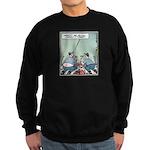 Plumbers butt crack Sweatshirt (dark)