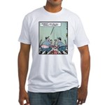 Plumbers butt crack Fitted T-Shirt