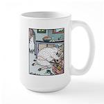 Sheep Plumber butt crack Large Mug