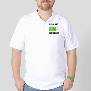 Fart Loading Black Golf Shirt