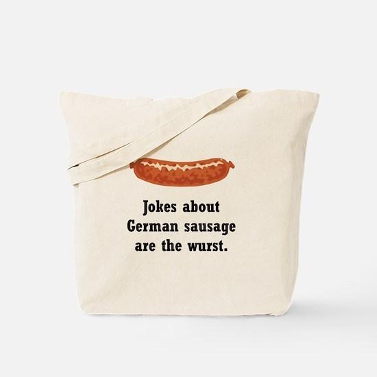 German Sausage Black.png Tote Bag