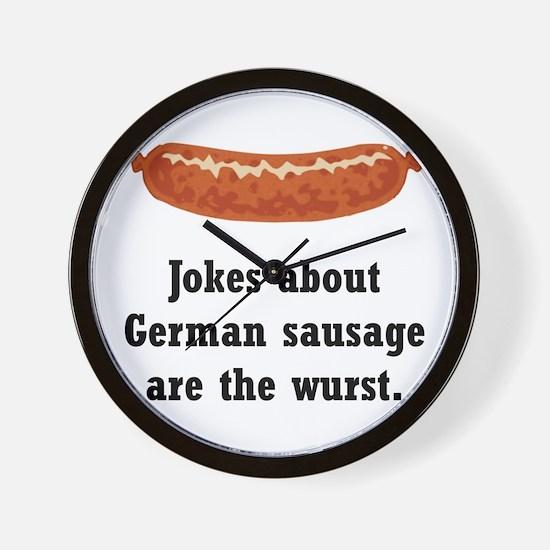 German Sausage Black.png Wall Clock
