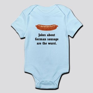 German Sausage Black Infant Bodysuit