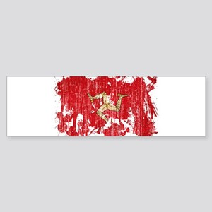 Isle of Man Flag Sticker (Bumper)