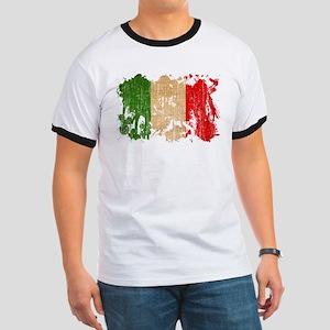 Italy Flag Ringer T
