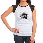 Women's Splatter Cap Sleeve T-Shirt
