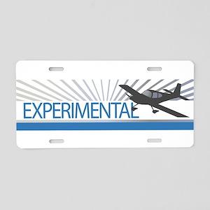 Experimental RV10 Aluminum License Plate