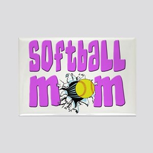 Softball mom Rectangle Magnet
