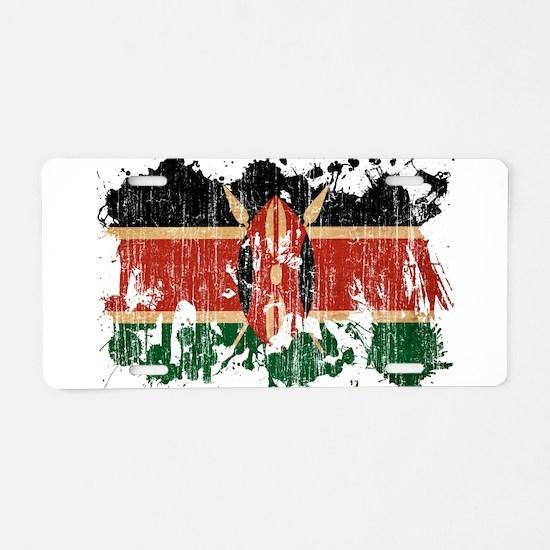 Kenya Flag Aluminum License Plate
