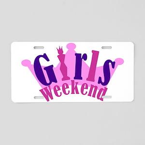 tiara girl Aluminum License Plate
