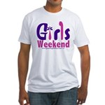 girls_weekend_pink Fitted T-Shirt