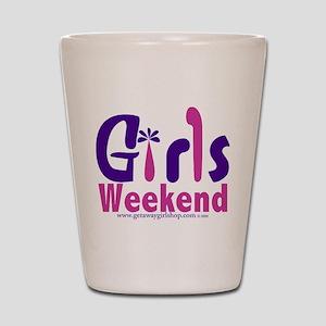 girls_weekend_pink Shot Glass