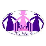 Shop 'til We Drop Sticker (Oval 10 pk)