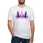 Shop 'til We Drop Fitted T-Shirt