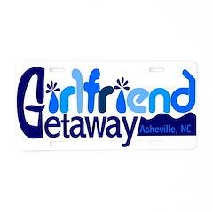 Girlfriend Getaway Asheville Aluminum License