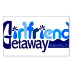 Girlfriend Getaway Asheville Sticker (Rectangl