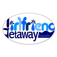 Girlfriend Getaway Asheville Sticker (Oval)