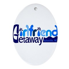 Girlfriend Getaway Asheville Ornament (Oval)